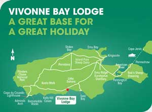Vivonne Bay Lodge Map - Kangaroo Island